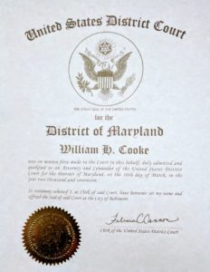 Annapolis lawyer William Cooke